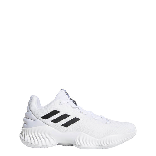 adidas pro bounce 2018 low basketball shoe white black bb7410 men men's mens team shoes