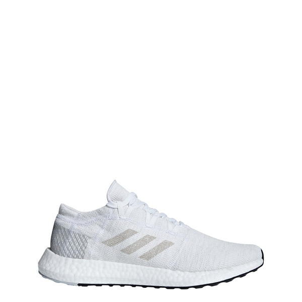 44b90e5a7ed517 adidas pureboost go running shoe white grey gray ah2311 men mens pure boost  2018 shoes