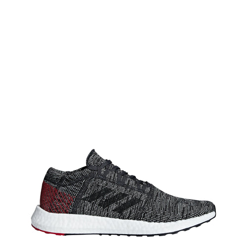 adidas pureboost go running shoe carbon grey gray black red ah2323 men mens pure boost 2018 shoes
