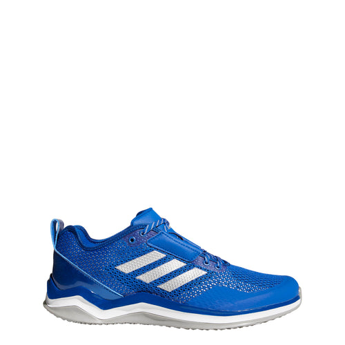 adidas speed trainer 3 turf baseball shoes royal blue silver white q16543 men's mens training shoe