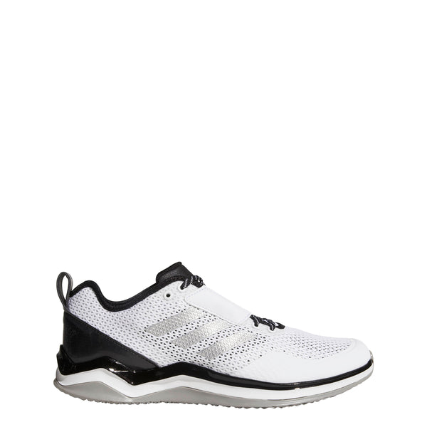 low priced 99ba7 afc68 adidas speed trainer 3 wide turf baseball shoes white black silver b27445 men s  mens wide with