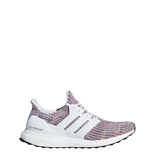 adidas ultra boost 4.0 running shoe white multi multi-color multicolor navy cm8111 men mens 2018 ultraboost sale closeout clearance shoes
