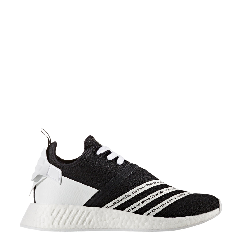 oscuridad enchufe Glamour  Adidas Men's White Mountaineering NMD R2 PK Running Shoes - Black - CG –  Kratz Sporting Goods