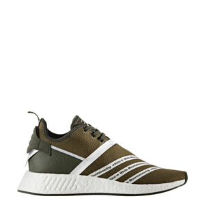 Adidas Men's White Mountaineering NMD R2 PK Running Shoes - Olive - CG3649