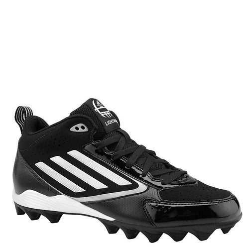 adidas lightning md jr youth molded football cleats black white platinum g67014 boys sale closeout