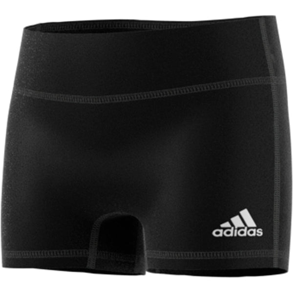 "adidas techfit 4 inch volleyball short tight black youth girls cd9581 four 4"" 4-inch shorts tights front"