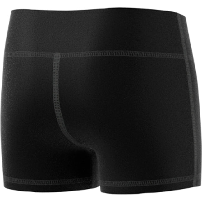 "adidas techfit 4 inch volleyball short tight black youth girls cd9581 four 4"" 4-inch shorts tights back"