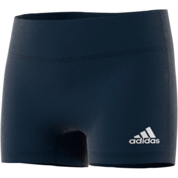 "adidas techfit 4 inch volleyball short tight navy youth girls cd9583 four 4"" 4-inch shorts tights front"