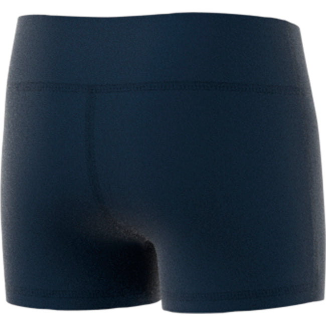 "adidas techfit 4 inch volleyball short tight navy youth girls cd9583 four 4"" 4-inch shorts tights back"