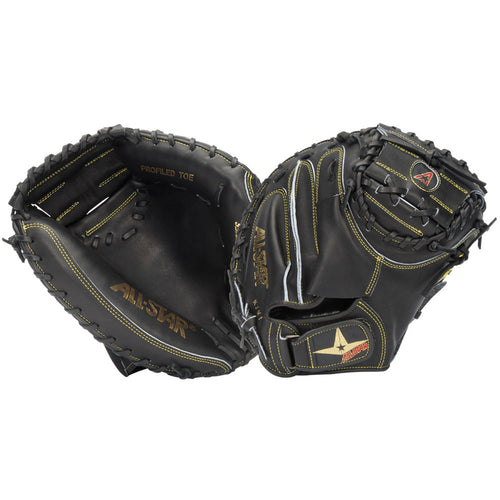all star pro elite series cm3000sbk baseball catcher mitt black right hand throw