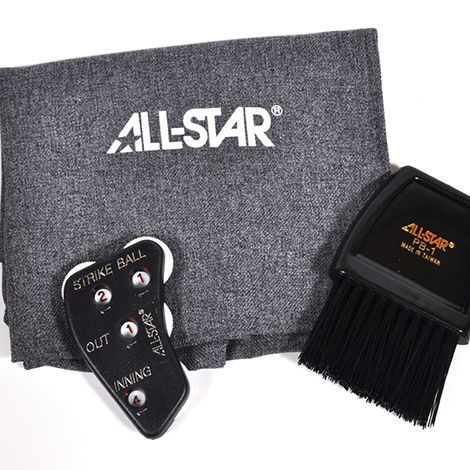 all star all-star deluxe baseball softball umpire kit ball bag counter plate brush