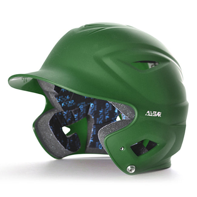 all star series seven bh3000m matte batting helmet green