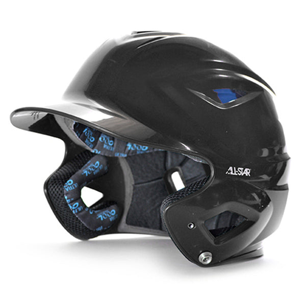 all star series seven bh3500 solid molded batting helmet black
