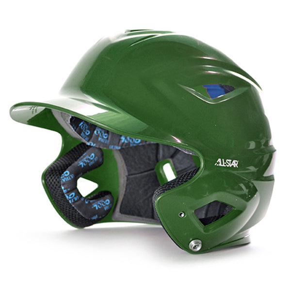 all star series seven bh3500 solid molded batting helmet green