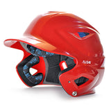 all star series seven bh3500 solid molded batting helmet scarlet red