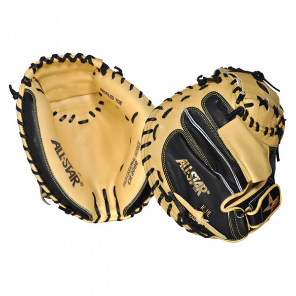 all star pro elite cm3000sbt professional series catcher mitt black tan 33.5""