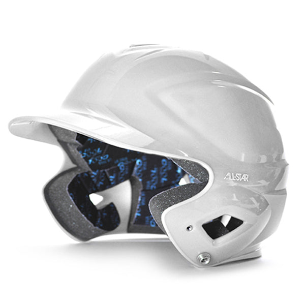 all star series seven bh3010 youth molded batting helmet white