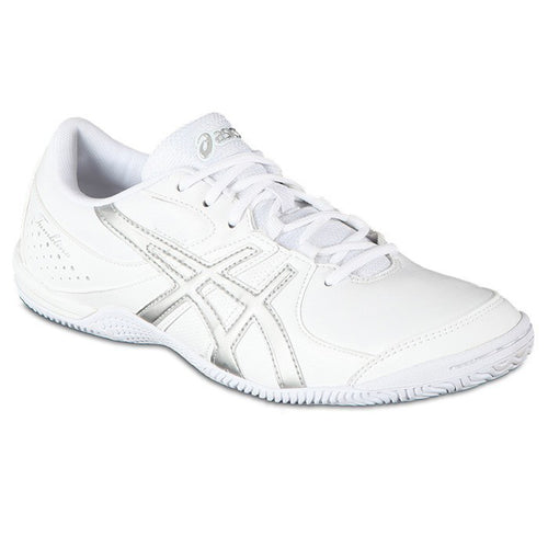 asics tumblina cheer shoes white silver q461y women's womens cheerleading cheerleader tumbling tumble shoe q461y-0193