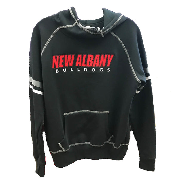 augusta ladies spry hoodie 5440 new albany high bulldogs indiana fan gear nahs womens hooded sweatshirt black red white grey graphite