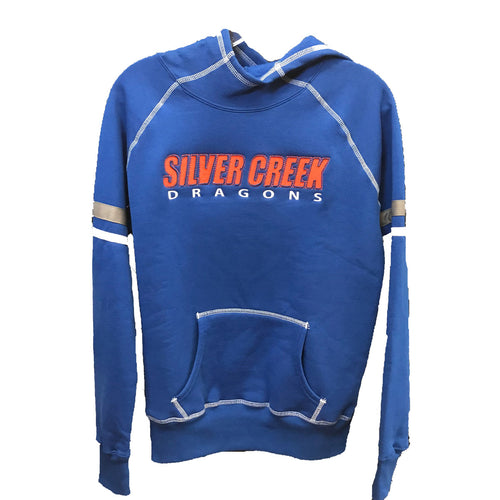 augusta ladies spry hoodie 5440 silver creek high school dragons indiana fan gear schs womens hooded sweatshirt