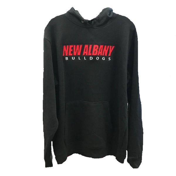 augusta mens hoodie 5414 new albany high school bulldogs indiana fan gear nahs adult men hooded sweatshirt black red white