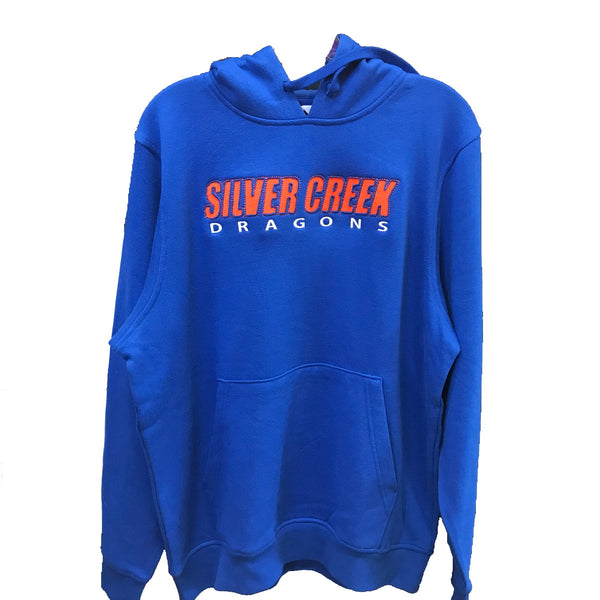 augusta mens hoodie 5414 royal blue silver creek high school dragons indiana fan gear schs adult hooded sweatshirt