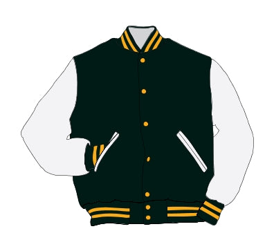 Floyd Central HS Award Jacket - Leather Set-In Sleeve - 5101