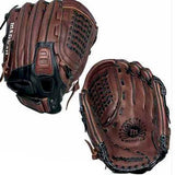 demarini medusa a0925 12 inch fastpitch softball glove a0925-mdc12 brown black