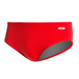 dolfin men's reliance solid racer swimming brief red scarlet 7150c men mens racing swim speedo swimsuit