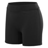 augusta high five sportswear youth girls knock out volleyball short black 45583 girl spandex shorts