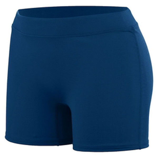 augusta high five sportswear youth girls knock out volleyball short navy 45583 girl spandex shorts