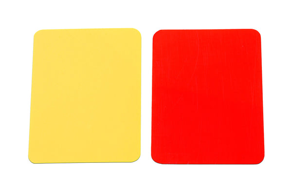 kwik goal soccer referee red yellow warning cards 15b503