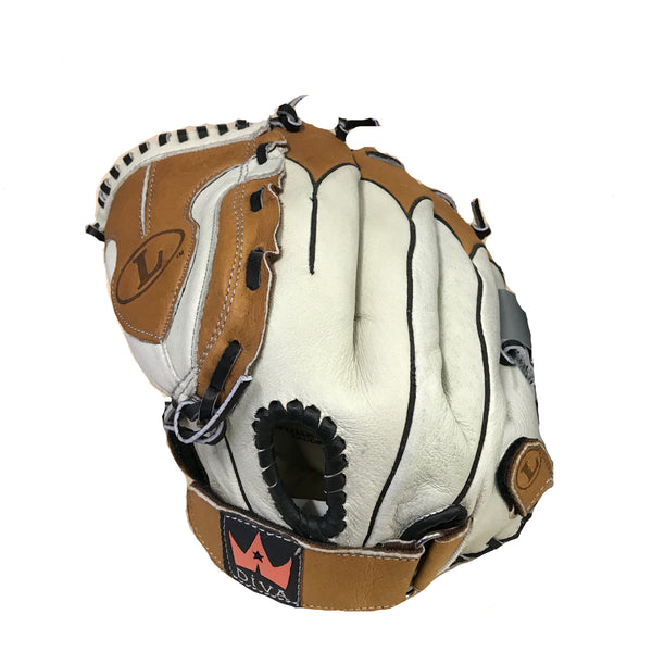 louisville slugger diva youth softball glove dv1200p dv1200 dv1200prh 12 inches