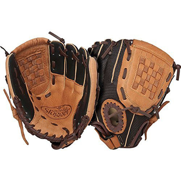 "louisville slugger genesis fggn14 fggn14-bn100 10"" youth baseball glove infield tan black"