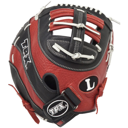 "louisville slugger tpx omaha select 12.25"" youth first base mitt baseball glove oslfb brown black white"