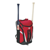 louisville slugger select stickpack scarlet red baseball softball backpack wtl9702