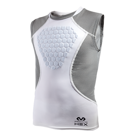 mcdavid hexpad hex sternum protector heart guard sleeveless shirt 7610Y