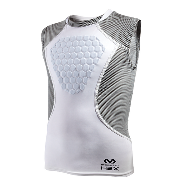 mcdavid hexpad hex sternum protector heart guard sleeveless shirt 7610