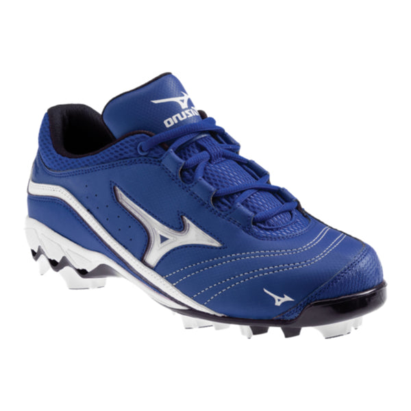 mizuno women's 9-spike watley g3 switch softball cleats royal blue white 320369 sale closeout
