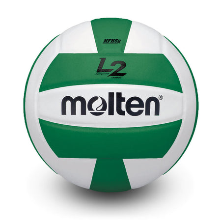 Molten L2 IVU-HS Indoor NFHS Volleyball - Black / White - IVU-BLK-HS