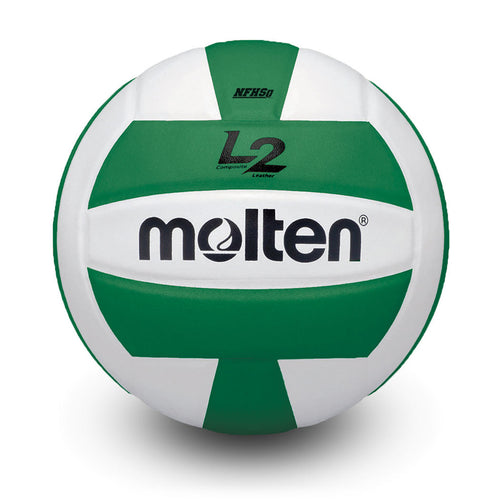molten l2 L2 volleyball green white ivu ivu-hs ivu-grn-hs high school indoor nfhs approved
