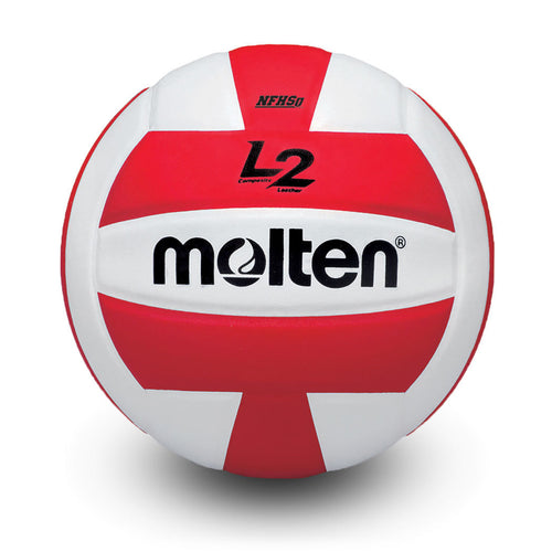 molten l2 L2 volleyball red white ivu ivu-hs ivu-red-hs high school indoor nfhs approved