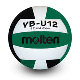 molten youth lightweight indoor volleyball white green black vbu12 vb-u12