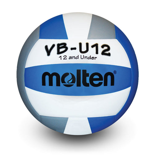 molten youth lightweight indoor volleyball white royal blue silver grey vbu12 vb-u12