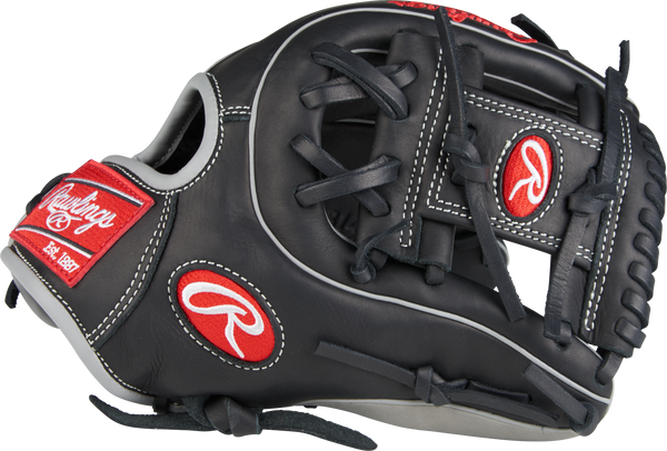 "Rawlings gamer g314-2bg 11.5"" infield baseball glove black grey"