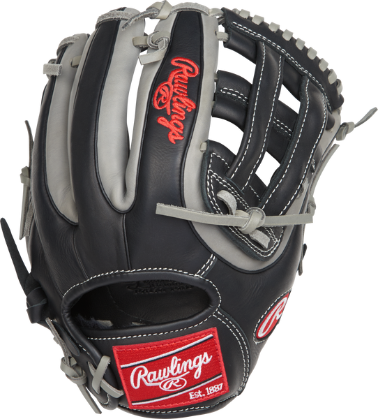 "Rawlings gamer g315-6bg 11.75"" infield pitcher baseball glove black grey"