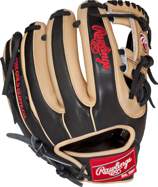 "Rawlings heart of the hide pro314-2bc 11.5"" infield baseball glove tan black"