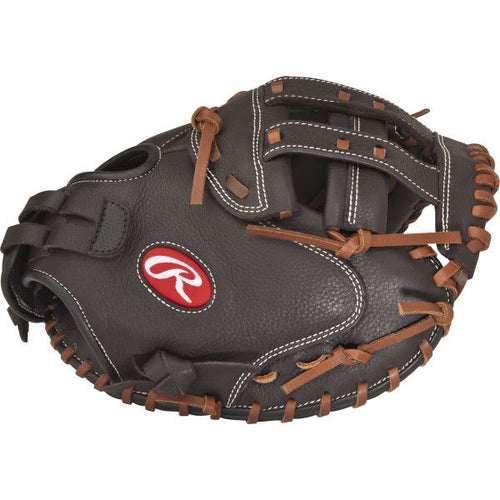 rawlings shut out rsocm33 fastpitch softball catcher mitt 33 inches brown