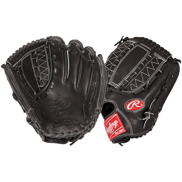 "rawlings heart of the hide pro12dhjb 12"" infield pitcher baseball glove black"