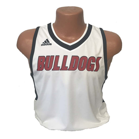 replica new albany high school bulldogs adidas basketball jersey white